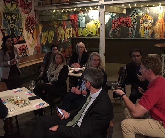 Some of the attendees at the digital health in Ballarat inaugural open mic night.