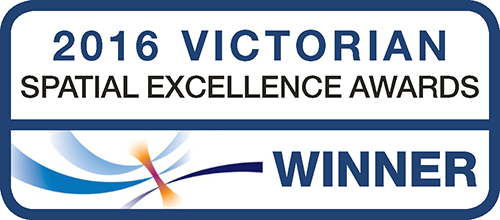 2016 Victorian Spatial Excellence Awards logo