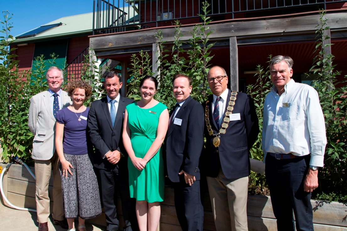 At the launch of the Climate Ready website at the Shire�s Eco Living Display Centre