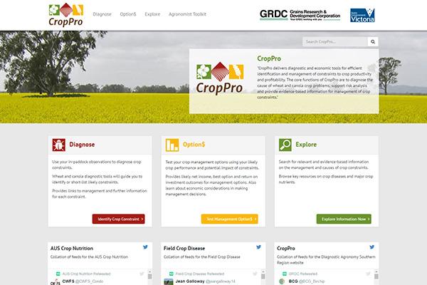 CropPro - website