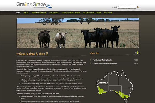 Grain and Graze website