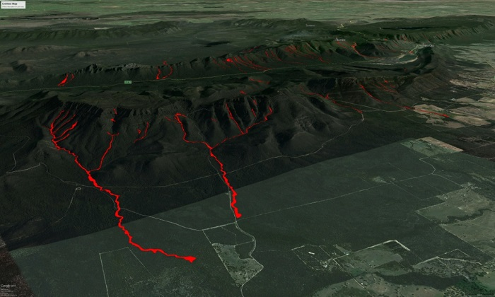 Grampians Natural Disaster Research - Google Earth Map