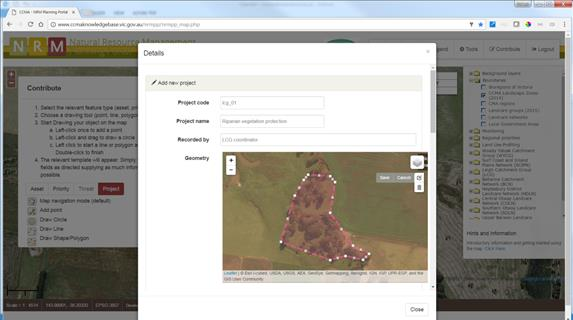 NRM Planning Portal Contribution Tools