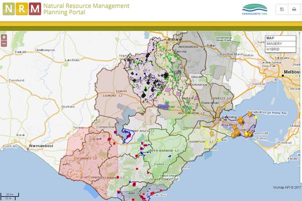 Natural Resource Management Planning Portal map
