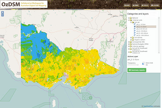 Digital Soil Mapping in Australia (OzDSM) website