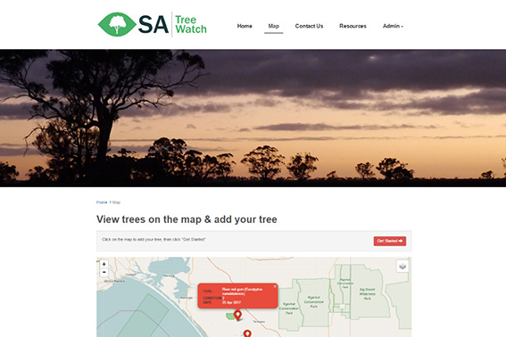 South Australia (SA) Tree Watch - Add a Tree