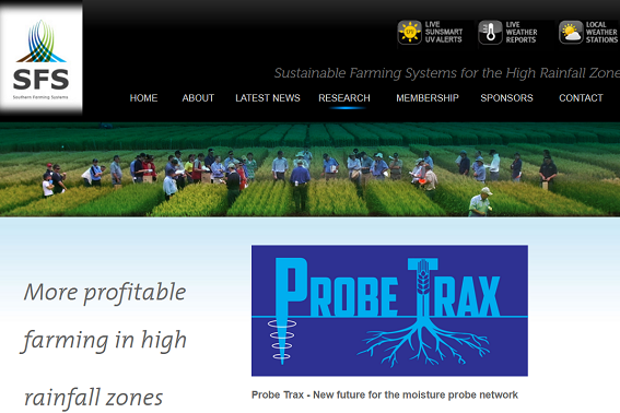 Southern Farming Systems Probe Trax website