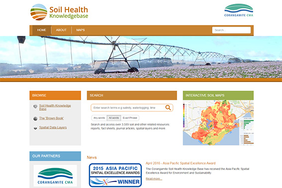 Corangamite Soil Health Knowledge Base - website