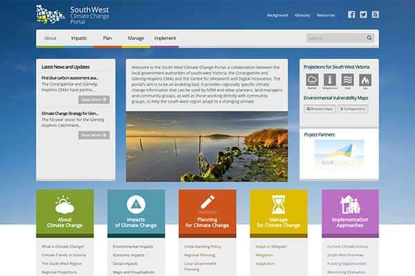 South West Climate Change website