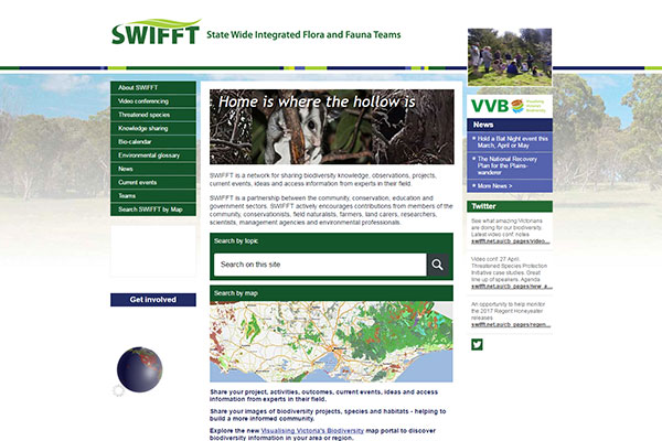 The State Wide Integrated Flora and Fauna Teams (SWIFFT) - website