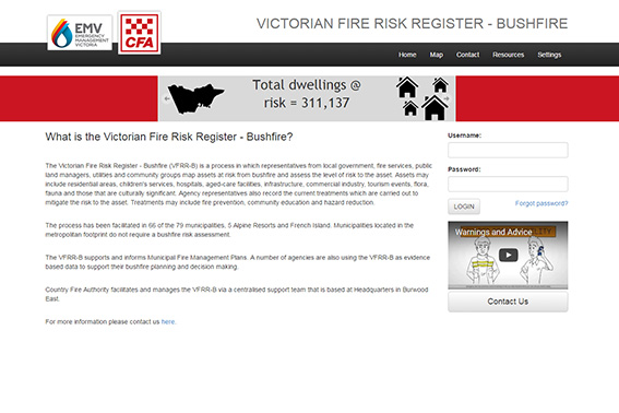 Victorian Fire Risk Register - Bushfire