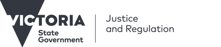 Department of Justice and Regulation logo