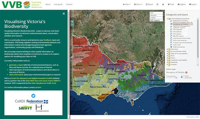 Visualising Victoria's Biodiversity - portal