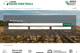 The Online Farm Trials (OFT) platform search