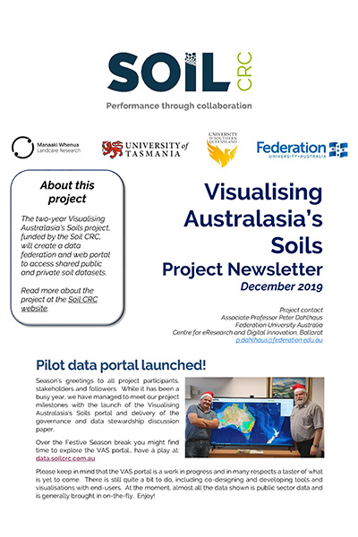 Visualising Australasia's Soils Project Newsletter, Decmber 2019