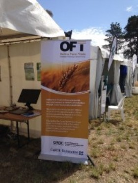 OFT Banner at a recent farming event in Victoria