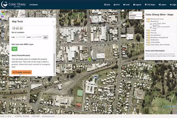 Other tools & functions - Colac Otway Shire Web GIS