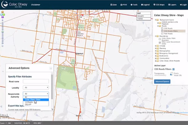 Filtering Layers & Exporting data - Colac Otway Shire Web GIS