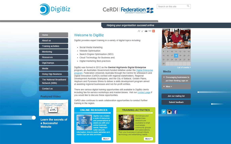 Central Highlands Digital Enterprise website