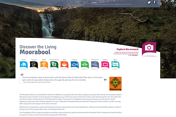 Discover the living Moorabool website