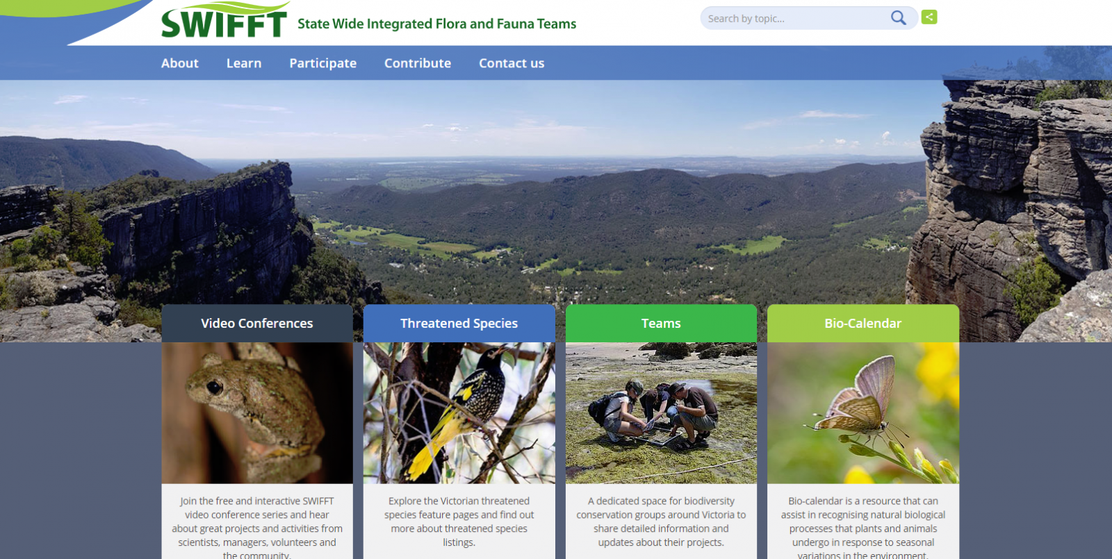 Statewide Flora and Fauna Teams Portal Relaunch