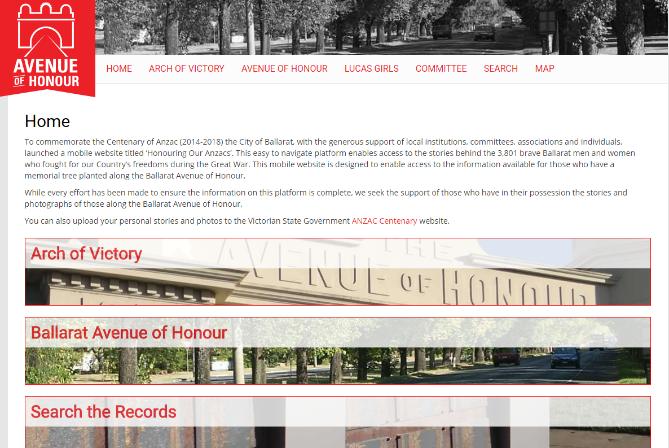 Left-alignHonouring our ANZACS website�