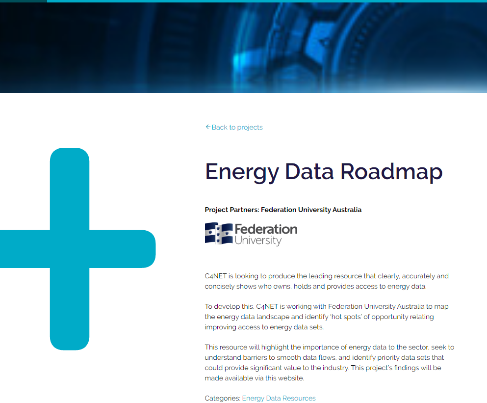 C4NET: Energy data roadmap
