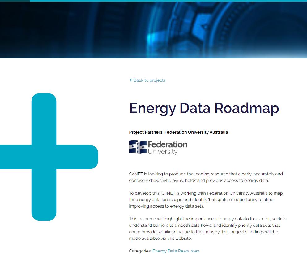 C4NET: Energy data roadmap