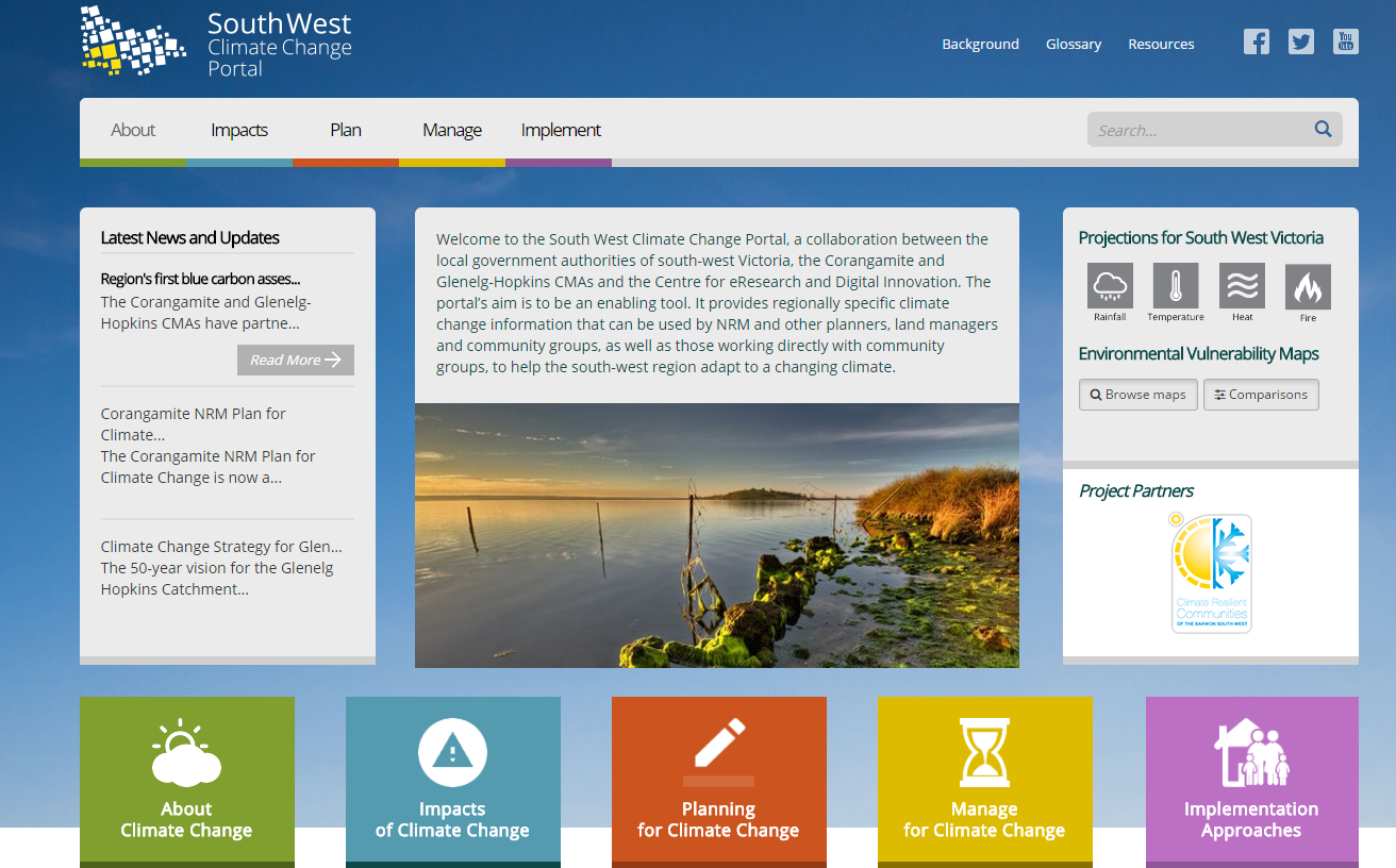 South West Climate Change Portal Website