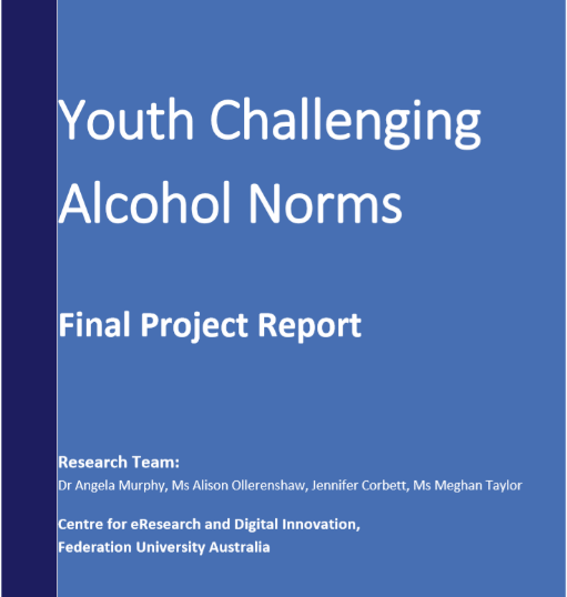 The final report outlines the research findings associated with the project. Prepared by Angela and the research team at CeRDI.