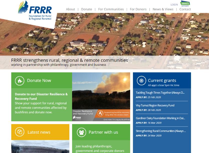 FRRR Website