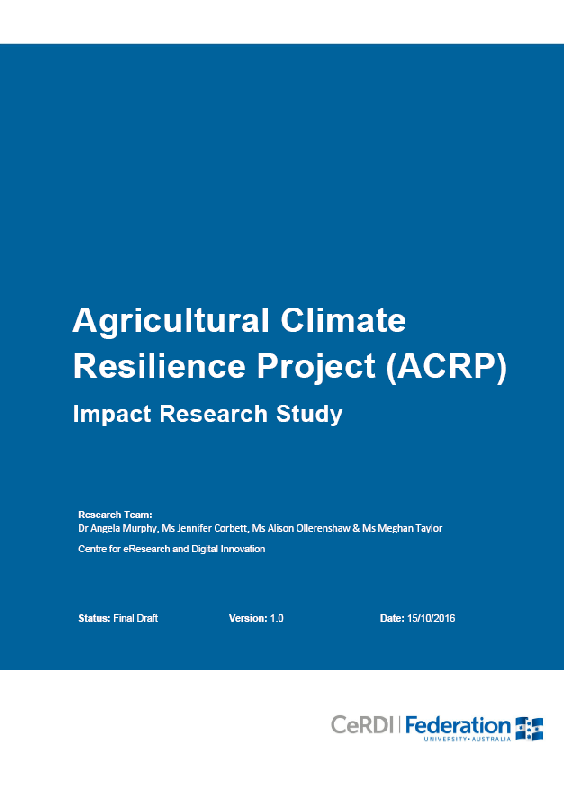 Agriculture Climate Resilience Project