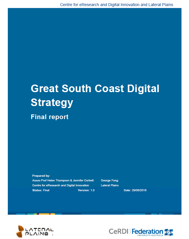 Great South Coast Digital Strategy FInal Report