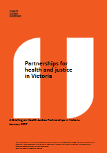Partnerships for health and justice in Victoria