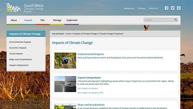 South West Climate Change Portal