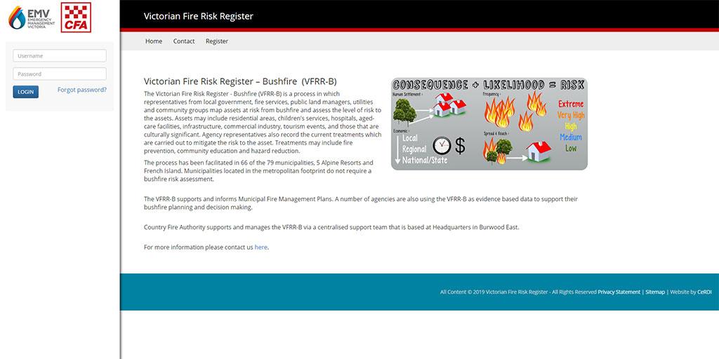 Victorian Fire Risk Register - Bushfire