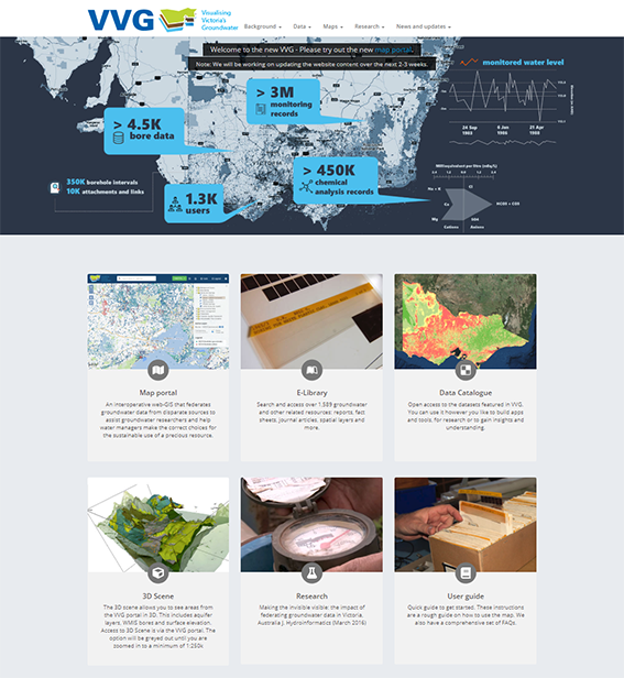 Visualising Victoria's Groundwater website