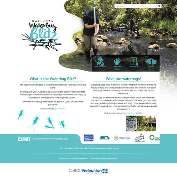 National Waterbug Blitz website
